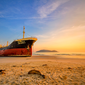 by Charliemagne Unggay - Transportation Boats ( landscape, beach )