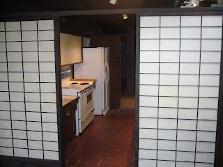 Shoji Screens Open to Kitchen