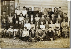 1942 or earlier Mama's class at Coombs High School, Bowdoinham