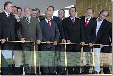 O presidente Luiz Inácio Lula da Silva, no encontro que reuniu ontem aliados, entre eles Ciro Gomes (RICARDO STUCKERTPR)