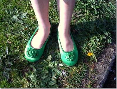 Niamh's green shoes