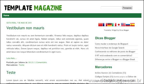 Template Magazine