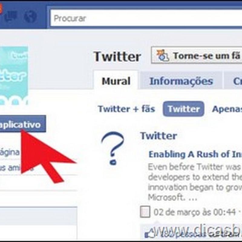 Envie atualizações do Twitter ao Facebook