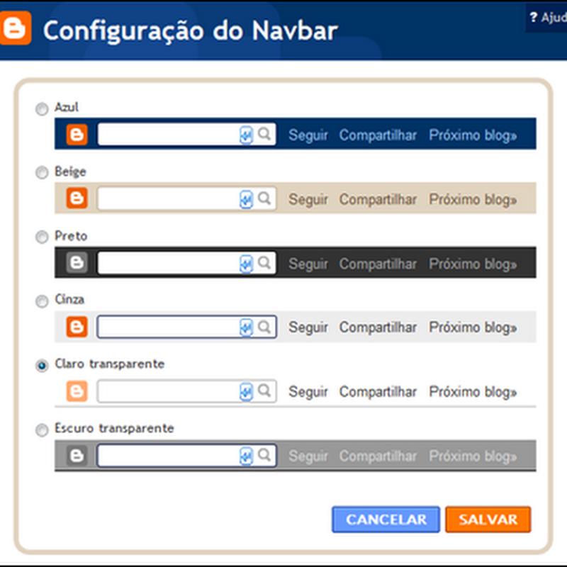 Navbar – novas cores e funções