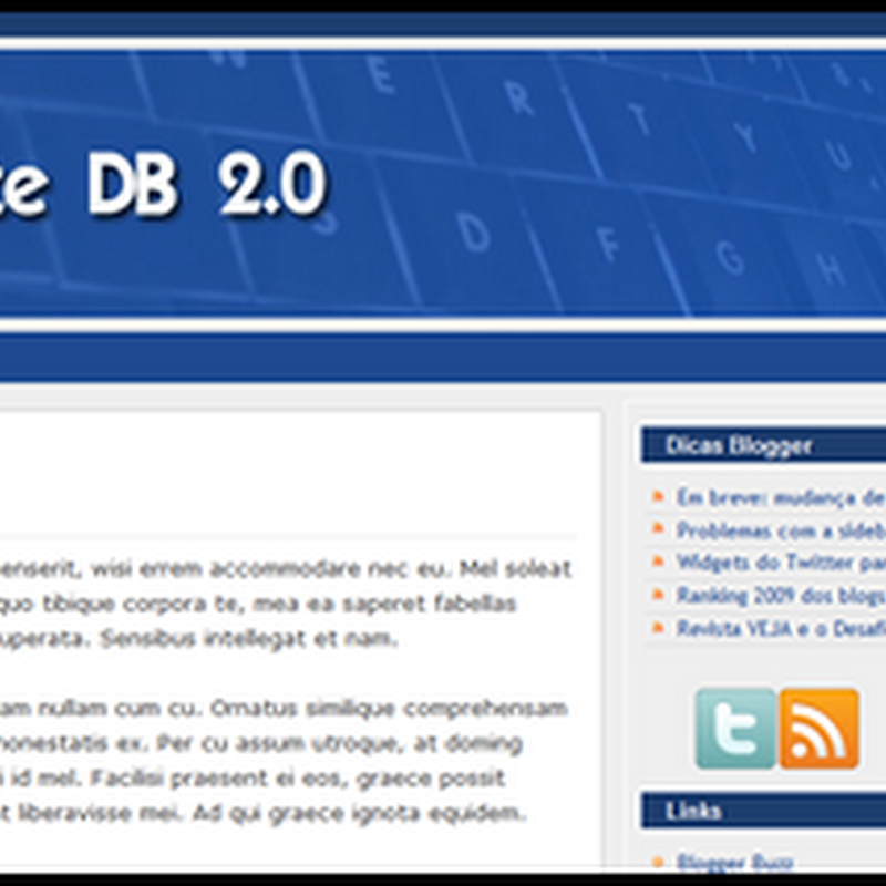 Template Dicas Blogger 2.0