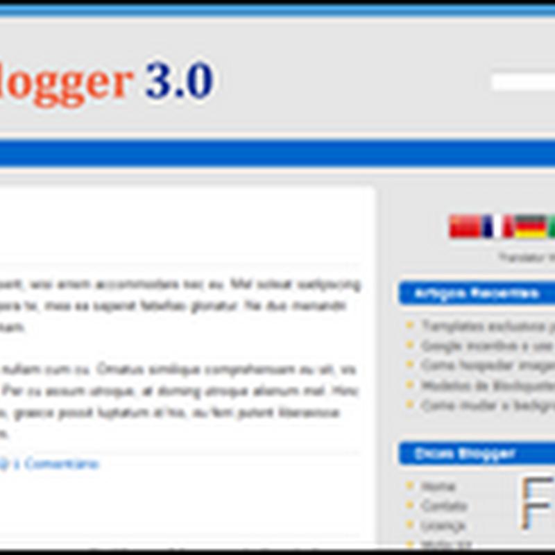 Bordas arredondadas nos templates para Blogger