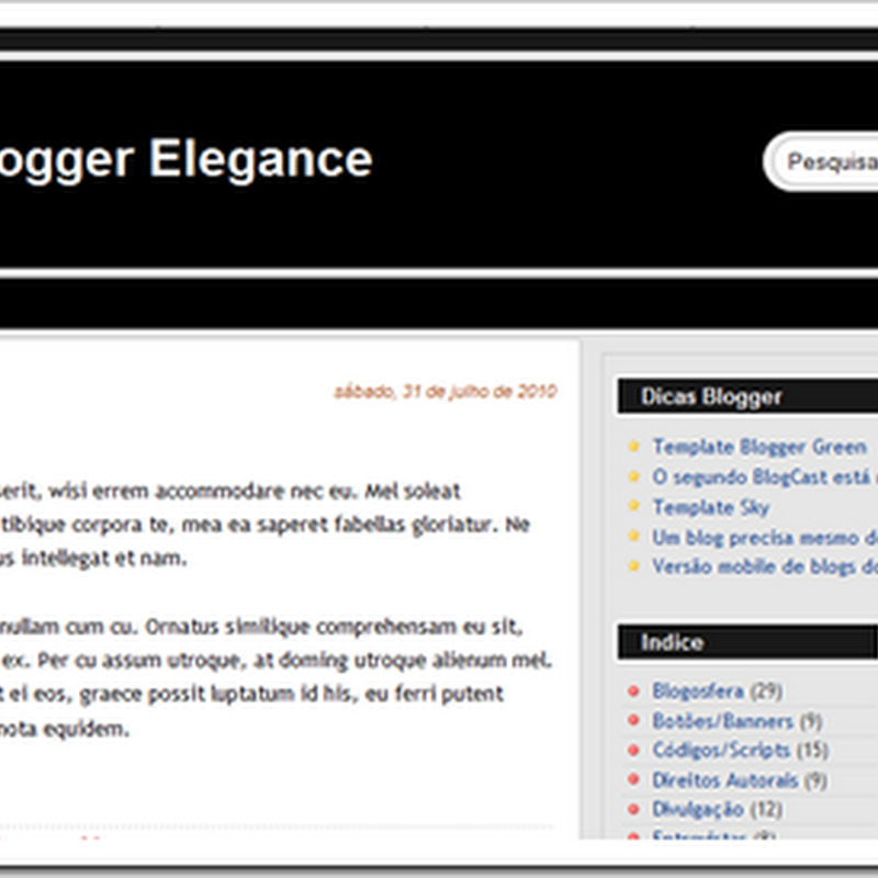 Template Blogger Elegance