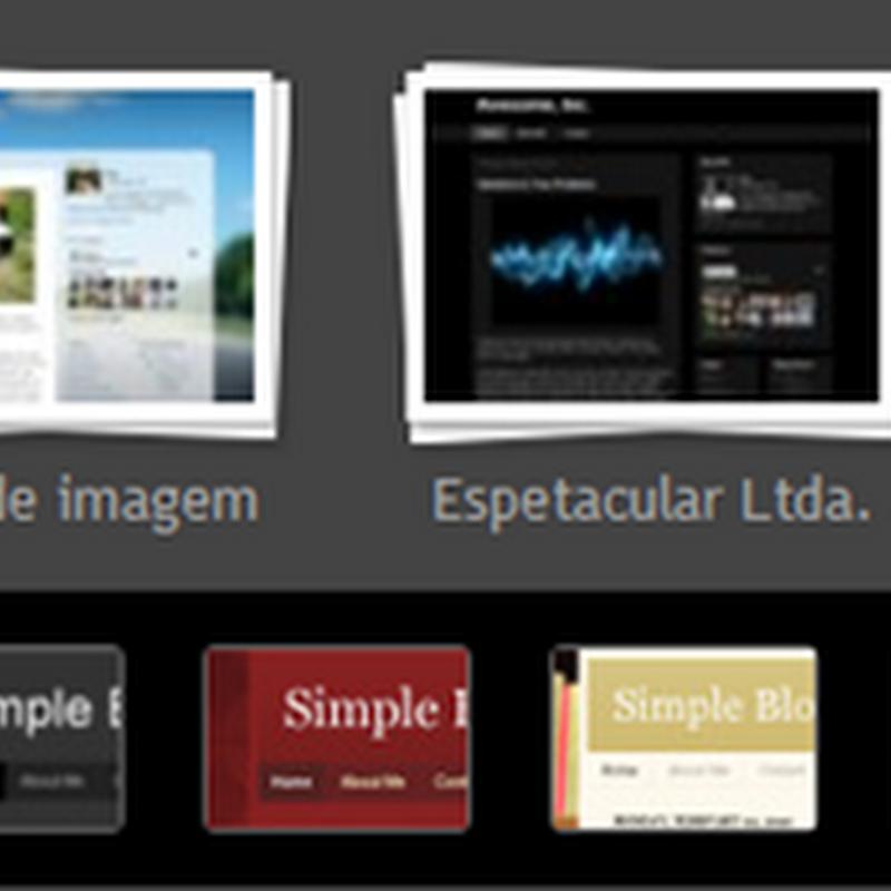 Opções de templates para Blogger