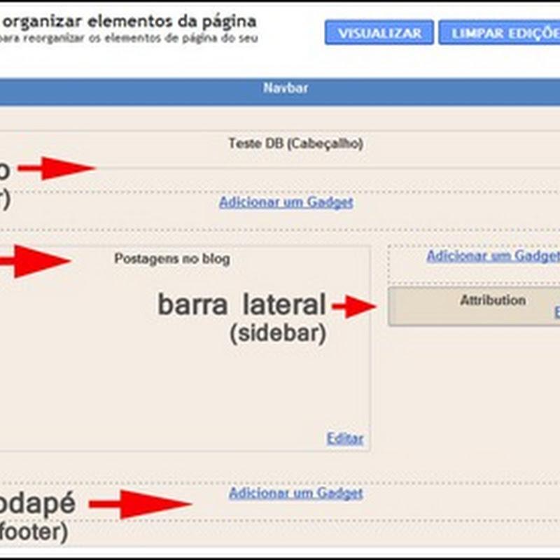 Conhecendo o layout do Blogger