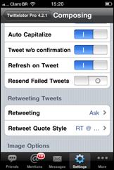 Twittelator-configuração