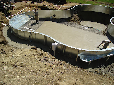 Lagoon in-ground pool installation Newburyport MA