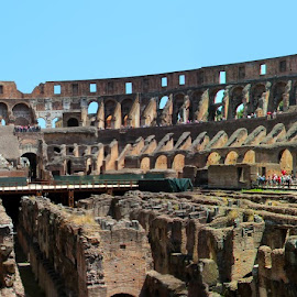 Coliseum Interior Pano by Joseph Lee - Buildings & Architecture Other Interior ( coliseum, interior, pano, rome, italy, panorama )