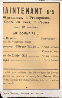 Carla Bodoni en Maintenant, n.4, París marzo-abril 1914. Editada por Arthur Cravan. Pulsar para ver la imagen completa