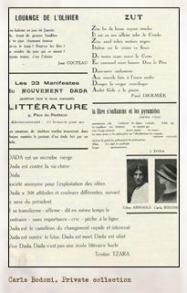 Dada: Dadaphone. París: n.7, marzo 1920. Editada por Tristan Tzara. Pulse para ver la imagen completa