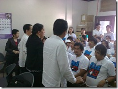 Defense lawyers in consultation with Morong health workers