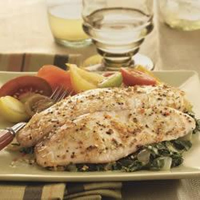 Baked Tilapia with Garlic and Herb Oil