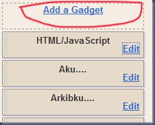 add a gadget