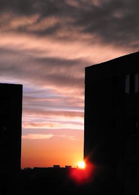 Apus de soare la Izvorul Oltului