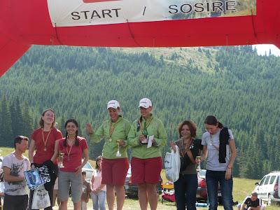 Marathon 7500 Bucegi 2010.  Podiumul la feminin