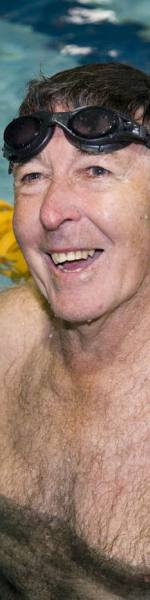 Older man swimming - Ageing Well in the Sutherland Shire