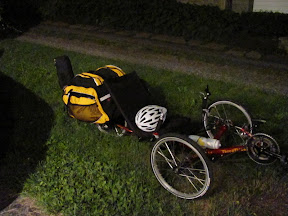 Terratrike with panniers