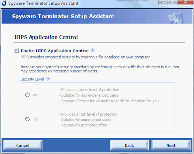 SpywareTerminator enable hips