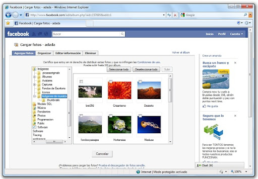greenshot 2010 03 25 08 37 33 Cómo instalar el plugin ActiveX de Facebook para subir fotos