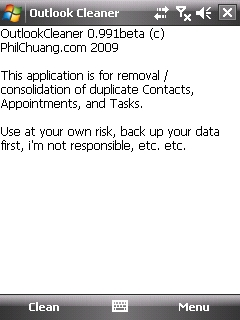 outlook%20cleaner ¿Contactos duplicados en Windows Mobile?