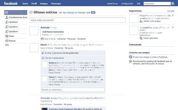 """greenshot 2009 10 26 21 12 16 Devuelve las """"noticias"""" de Facebook a su antiguo estado"""