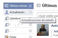 """greenshot 2009 10 26 21 12 37 Devuelve las """"noticias"""" de Facebook a su antiguo estado"""