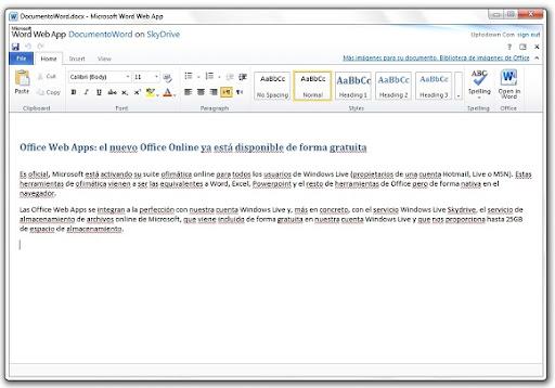2 Office Web Apps: el nuevo Office Online ya está disponible de forma gratuita