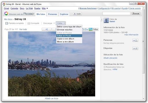 greenshot 2010 07 15 10 22 37 Edita tus fotos de Picasa Web Albums con Picnik