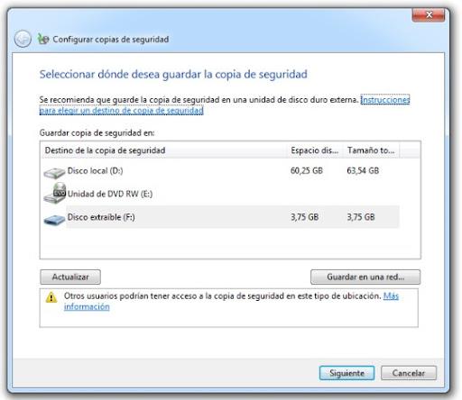 1 Cómo hacer una copia de seguridad con Windows 7