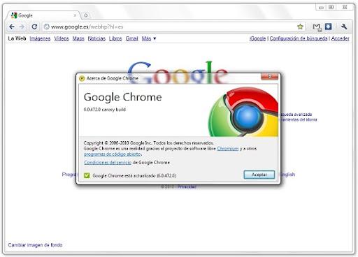 greenshot 2010 07 26 09 00 21 Google Chrome Canary Build: prueba la última versión de Chrome sin renunciar a tu instalación estable