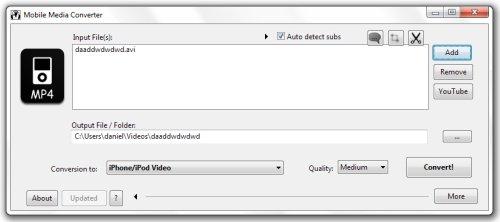 greenshot 2010 09 27 10 41 05 Cómo convertir vídeos a formato iPod/iPhone