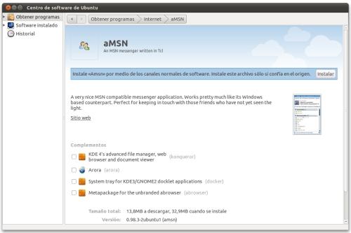 screenshot1 Ubuntu 10.10 cambia la manera de instalar paquetes DEB