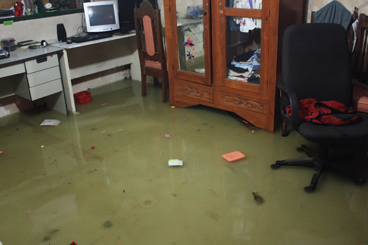 Flood water inside the house