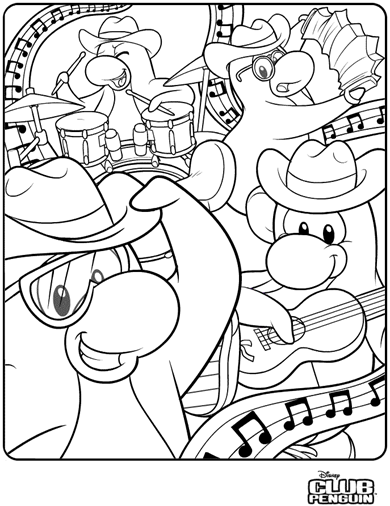 Club Penguin Rocket: New Outdoor Activity and New Coloring