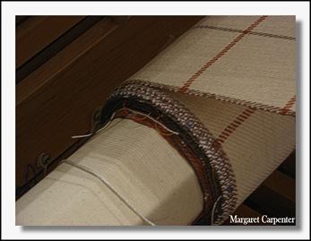 fabric on front beam