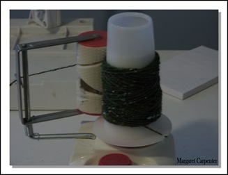 Winding handspun warp on cone winder