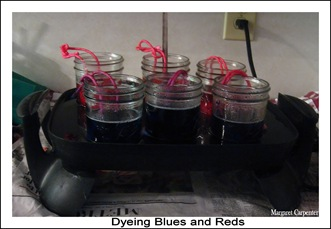Dyeing blues and reds