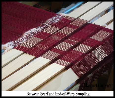 Between scarf and end of warp sampling