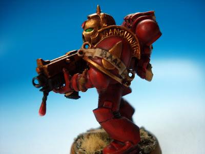 Blood Angels Space Marine pomalowany przez red_gobbo