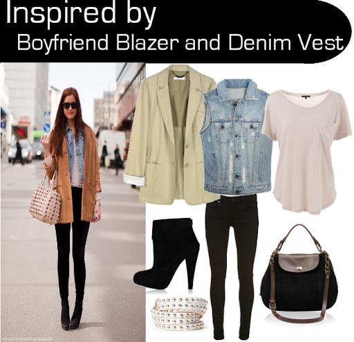Inspired by Boyfriend Blazer and Denim Vest