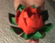 como hacer flor de loto de papel