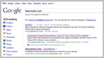 Menghilangkan Google Option di Hasil Pencarian
