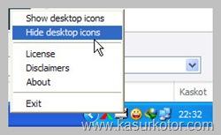 Menyembunyikan Icon Desktop Secara Otomatis Dalam Satu Klik