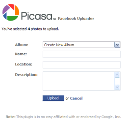 Upload Foto ke Facebook dengan Picasa Facebook Uploader