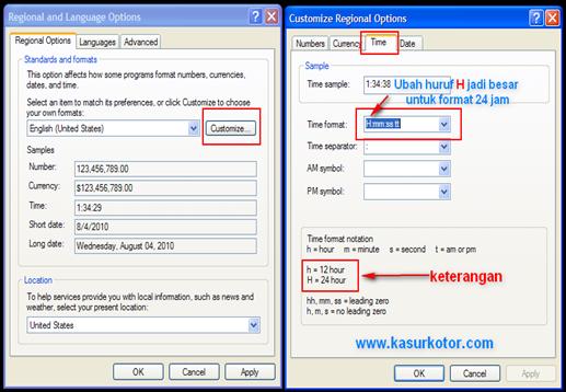 Mengganti dan Mengubah Format Jam Komputer