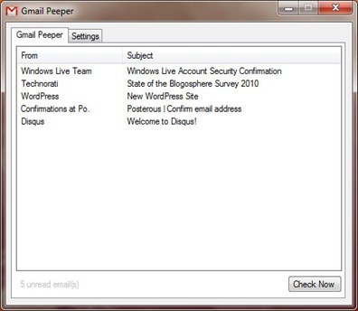 Gmail peeper 2